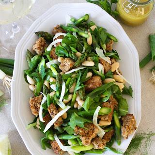 Spring Asparagus Panzanella Salad.