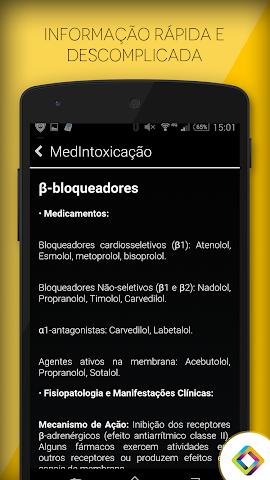 android MedIntoxicação: Intoxicações Screenshot 2