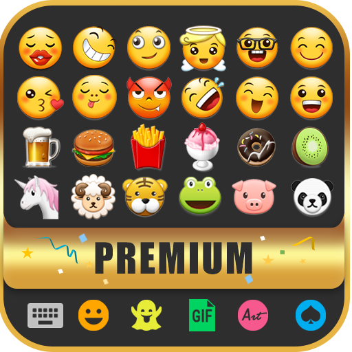 Cute Emoji Keyboard Premium - GIF, Emoticons Icon