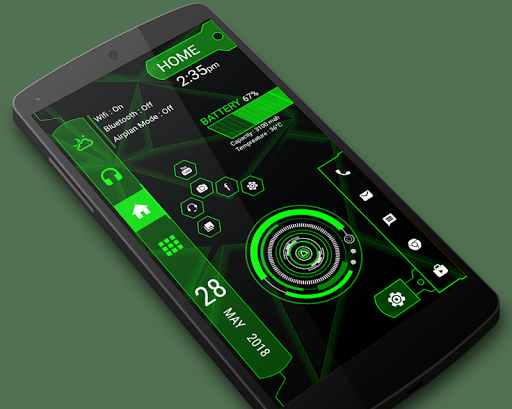 Strip hi-tech Launcher 2018 - hitech theme