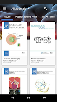 Screenshot of Journal of Neurosurgery Online