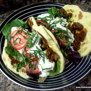 Spiced Lamb Flatbread & Jalapeño Tzatziki Sauce