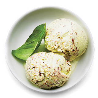 Mr. and Mrs. Miscellaneous Basil-Chip Ice Cream