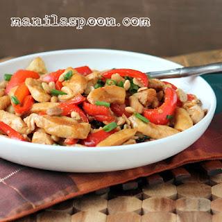 Chicken and Cashew Nuts Stir-fry.