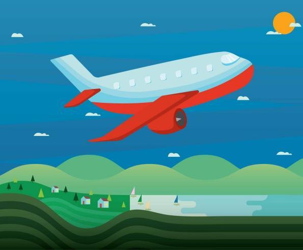 Free Cartoon Plane Illustration