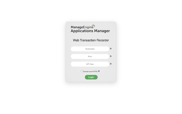 Applications Manager Web Transaction Recorder