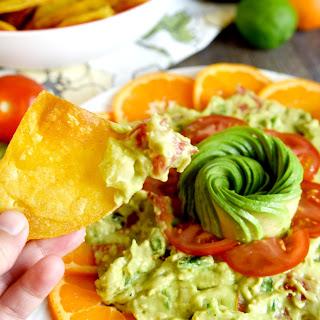 Fresh Citrus and Poblano Guacamole Platter