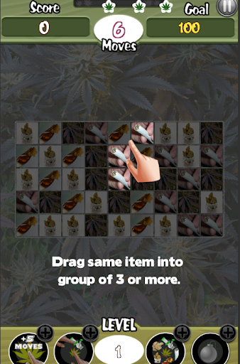 Cannabis Candy Match 3 Weed Game screenshot 2