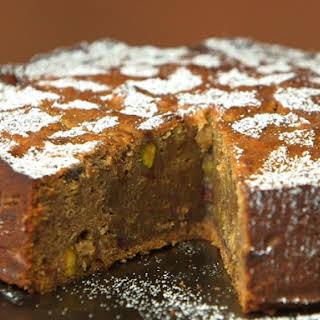 Date, Pistachio and Cardamom Cake.