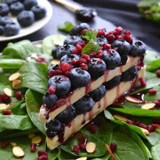 """Blueberry Brie """"Cake"""" Appetizer."""