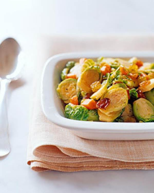 Sauteed Brussels Sprouts With Raisins Recipe
