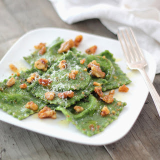 Spinach Ravioli with Ricotta & Herb-Butter Sauce