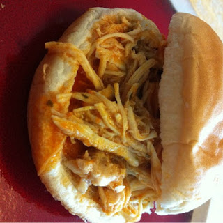 Slow Cooker Buffalo Chicken Sandwiches -