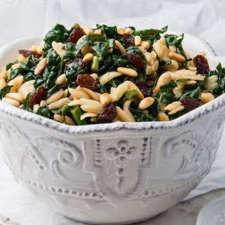 Sicilian Kale Salad With Orzo.