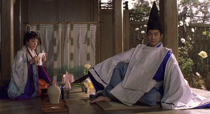 representante de los Hechiceros de Onmyōji, tomando el te.