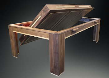 the spartan rollover pool and dining room table concept
