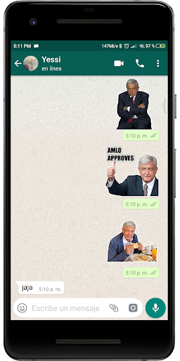 Screenshot for AMLO Stickers in Hong Kong Play Store
