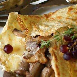Mushroom Cheese Crepes