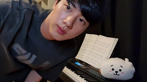 BTS Jin Playing Piano For Fans