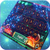 Starry Circuit Board Current Tech Keyboard Theme