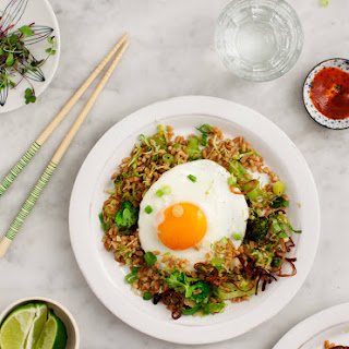 Farro Fried Rice with Brussels Sprouts.