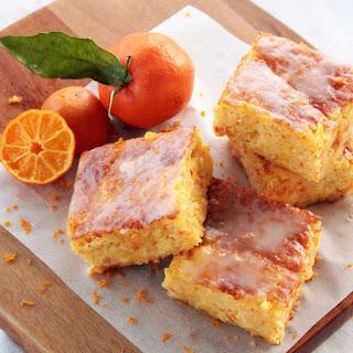 Gluten free Clementine Cake Bars