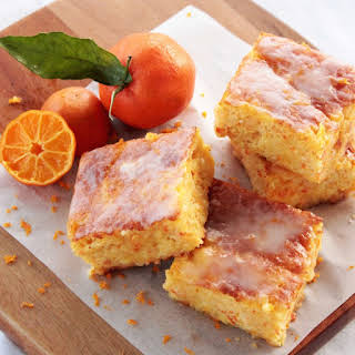 Gluten free Clementine Cake Bars.
