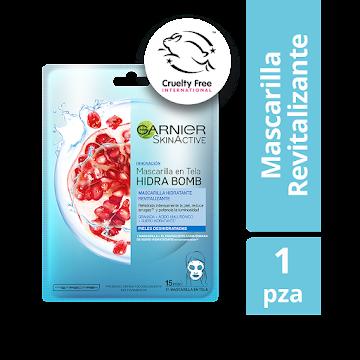 Mascarilla Garnier Skin   Active de Tela Sachet Revitalizante Granada x32gr