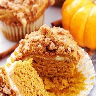 Pumpkin Cream Cheese Muffins with Walnut Streusel