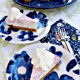 Blueberry and Lemon Cheesecake