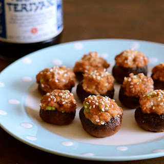 Teriyaki Chicken Stuffed Mushrooms