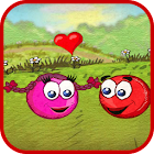 Red Pink Ball: Bouncing Ball Love Adventure icon