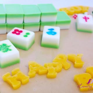 Mahjong Agar Agar Cake For Potluck Party, Anyone Game?.