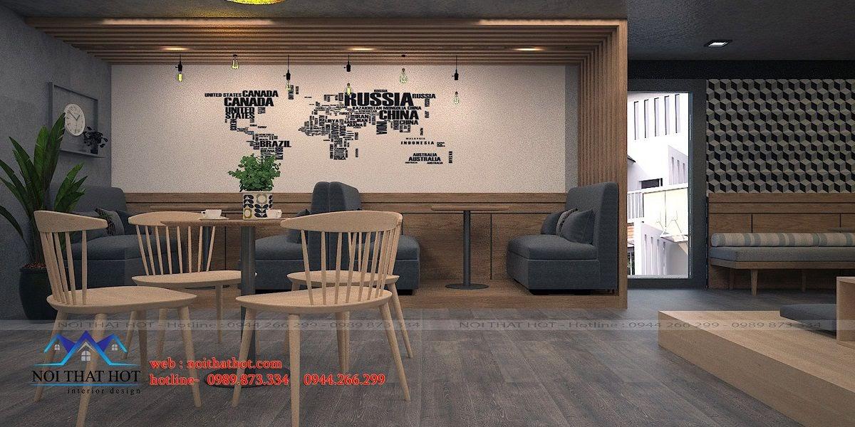 thiết kế quán trà sữa lịch sự