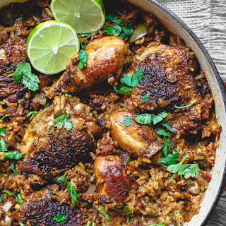 Spanish Chicken and Rice Recipe with Chorizo.