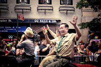 Photo: George Takei in a Boy Scout Outfit at the 2012 NYC Pride Parade  I had every intention of making a real post about today's Pride Parade in New York City (also known as the Heritage of Pride March) but really, I think this photo I took of +George Takei flashing the Vulcan salute while in a Boy Scout uniform trumps anything else I would have posted. ;)  View the full set of photos from today here in my Flickr set:  http://www.flickr.com/photos/vivnsect/sets/72157630273835752/    View this post on my site here (along with the reason why he is in a Boy Scout uniform):  http://nythroughthelens.com/post/25823755873/george-takei-in-a-boy-scout-outfit-at-the-2012-nyc    Tags: #photography  #georgetakei  #takei  #vulcan  #nycpride  #nyc  #newyorkcity  #prideparade  #nycprideparade2012  #georgetakeiprideparade  #boyscouts