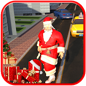Christmas Santa Claus : Moto Gift Delivery