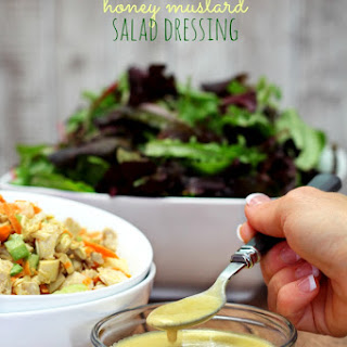 Healthier Honey Mustard Salad Dressing