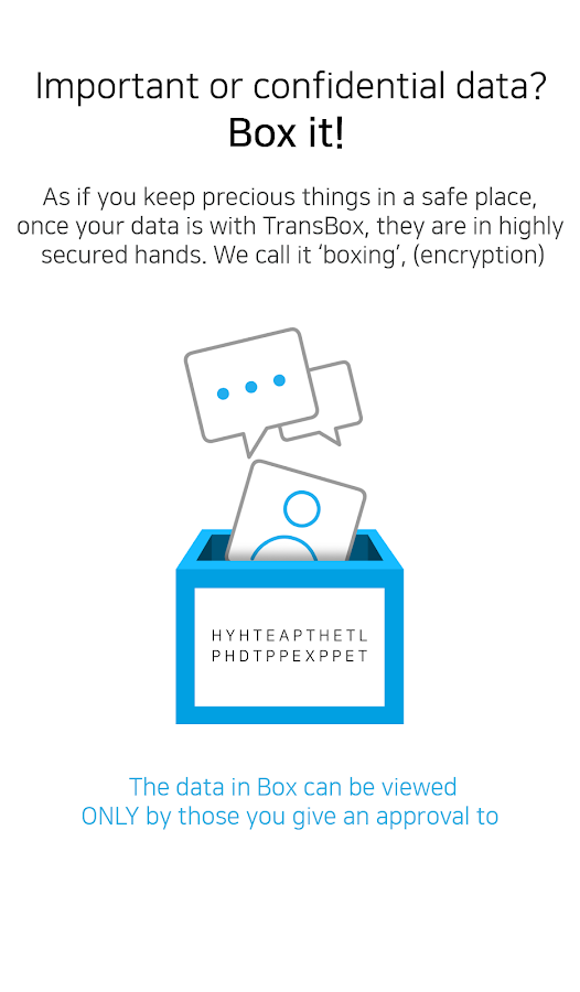 TransBox – Secure Data Sharing- screenshot