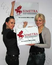 Photo: Таблички с названием организации. Заказчик: Simetra Asset Management Limited. Акрил 3-х цветов. Сделано лазером