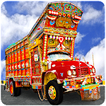 PK Cargo Truck Driving Icon