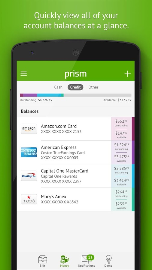 Prism Bills & Personal Finance- screenshot