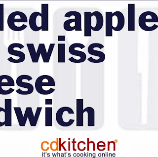 Grilled Apple And Swiss Cheese Sandwich.
