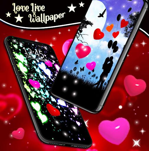 Love Live Wallpaper ❤️ 3D Hearts Free by HD Cute