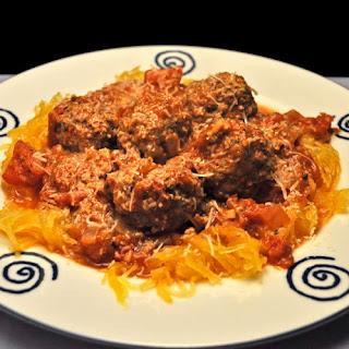 Spaghetti Squash and Meatballs.