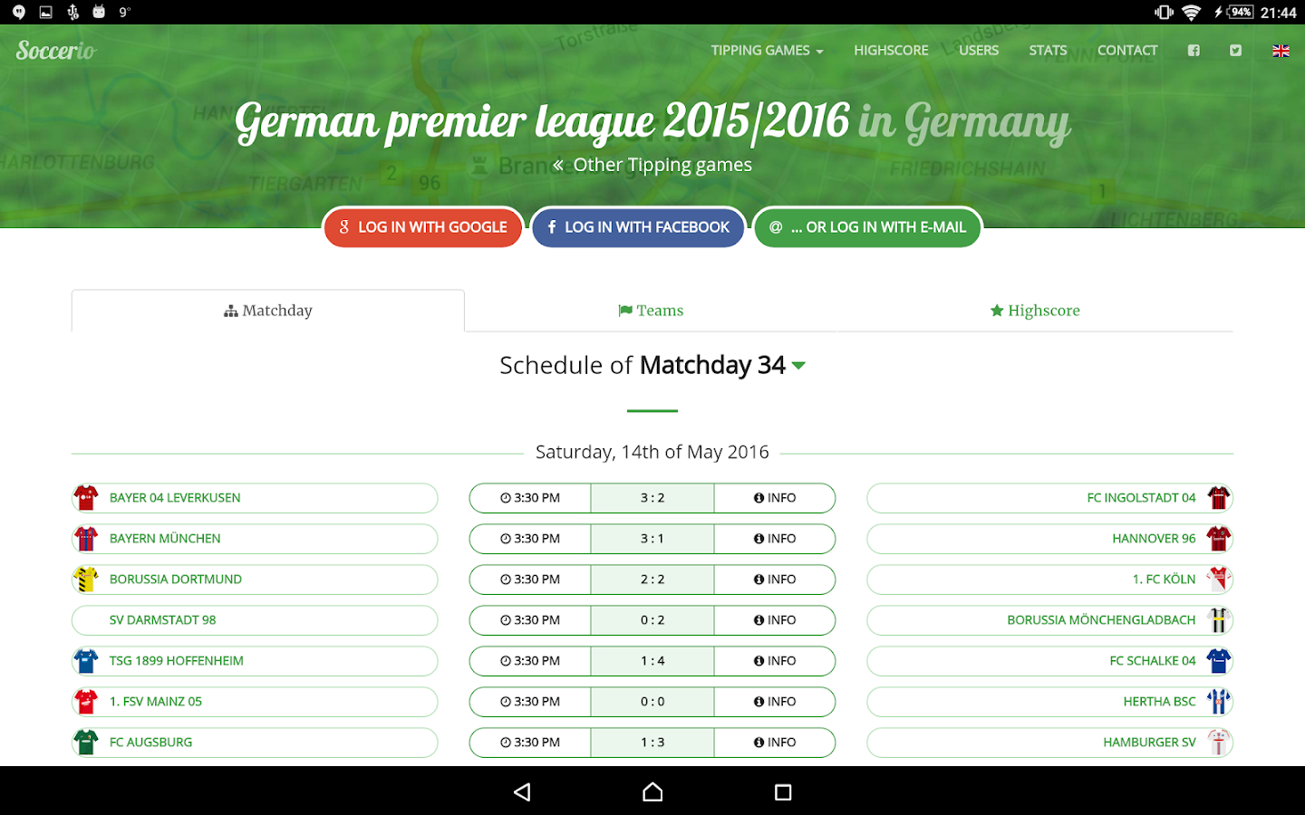 Soccerio - Soccer Tipping Game- screenshot