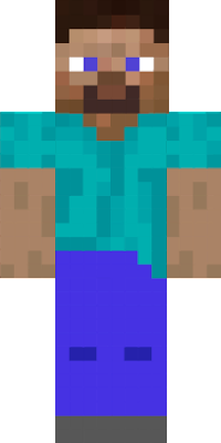 This is the design of the video game Minecraft Steve, who recently came out as part of the downloadable content for the game Super Smash Bros. Ultimate