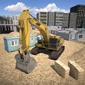 City construction simulator 3D icon