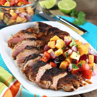 Family-Style Pork Tenderloin with Fresh Salsa
