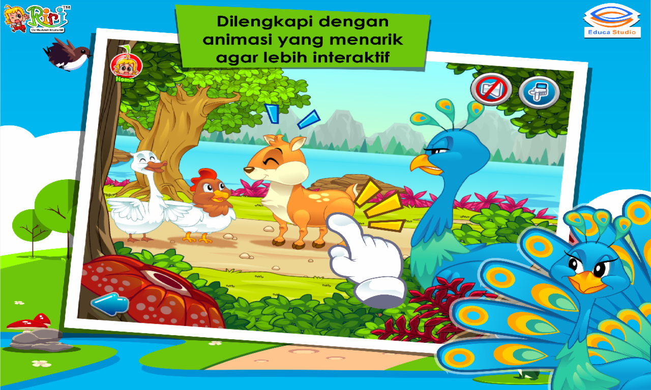 Cerita Anak Kancil Dan Merak Apl Android Di Google Play